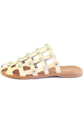 Shop And Shoes 031-1105 Kadın Terlik Altın
