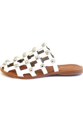 Shop And Shoes 031-1105 Kadın Terlik Beyaz