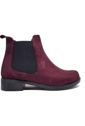 Shop And Shoes 031-1600 Kadın Bot Bordo Süet