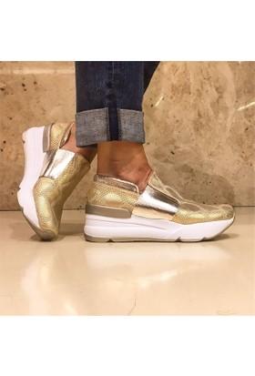 Shop And Shoes 031-3002 Kadın Ayakkabı Altın