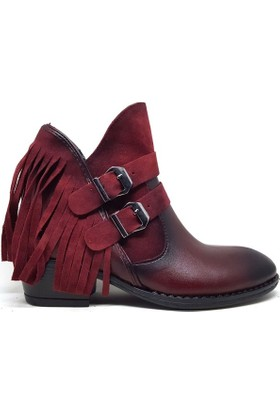 Shop And Shoes 031-6022 Kadın Bot Bordo