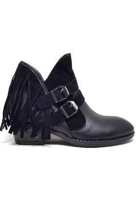 Shop And Shoes 031-6022 Kadın Bot Siyah