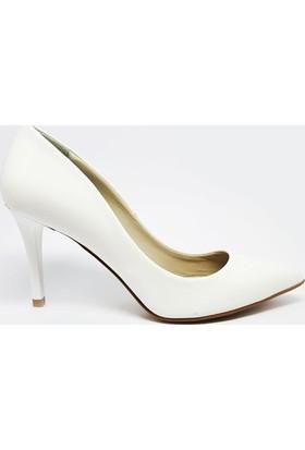 Shop And Shoes 041-8600 Kadın Ayakkabı Beyaz Rugan