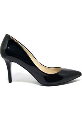 Shop And Shoes 041-8600 Kadın Ayakkabı Siyah Rugan