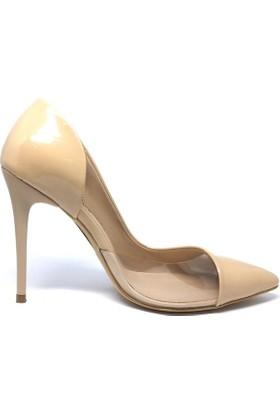 Shop And Shoes 100-1964 Kadın Stiletto Bej Rugan