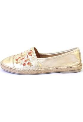 Shop And Shoes 100-7626 Kadın Babet Altın
