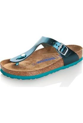 Birkenstock 105-1003482B Gizeh Nl Kadın Sandalet Metallic Green