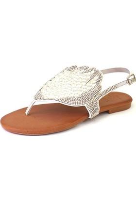Shop And Shoes 117-316 Kadın Sandalet Gümüş