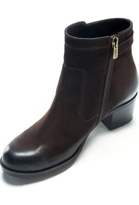 Shop And Shoes 121-6739 Kahve Nubuk Kadın Bot