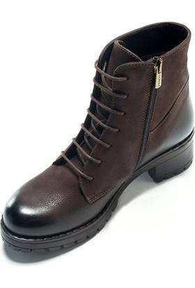 Shop And Shoes 121-3312 Kadın Bot Kahve