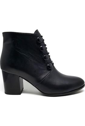 Shop And Shoes 122-2116 Kadın Bot Siyah