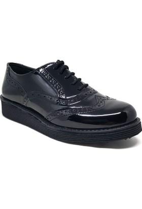 Shop And Shoes 127-2023 Kadın Ayakkabı Siyah Rugan