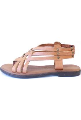 Shop And Shoes 155-103 Kadın Sandalet Taba