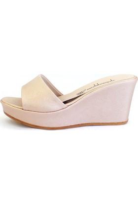 Shop And Shoes 155-3000 Kadın Terlik Bronz Mayorka