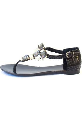 Shop And Shoes 155-N004 Kadın Sandalet Altın