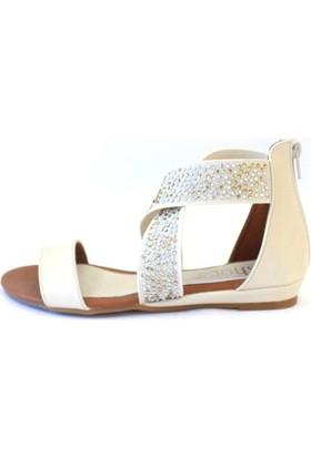 Shop And Shoes 158-1509 Kadın Sandalet Bej