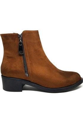 Shop And Shoes 161-959 Kadın Bot Taba Süet