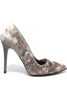 Shop And Shoes 164-250K Kadın Ayakkabı Pudra Kadife