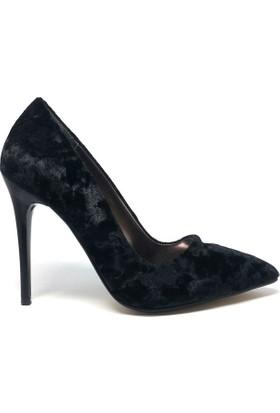 Shop And Shoes 164-250K Kadın Ayakkabı Siyah Kadife