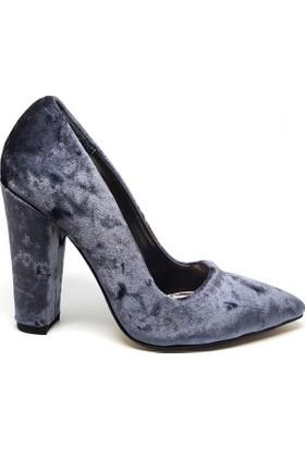 Shop And Shoes 164-260K Kadın Ayakkabı Füme Kadife