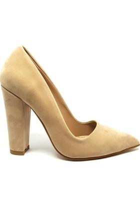 Shop And Shoes 164-260 Kadın Ayakkabı Bej Süet