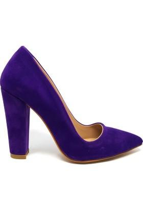 Shop And Shoes 164-260 Kadın Ayakkabı Mor Süet