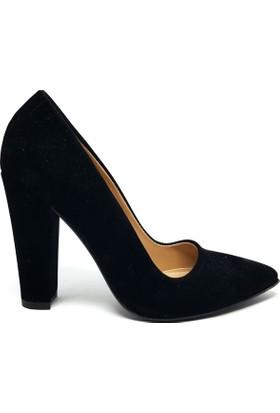Shop And Shoes 164-260 Kadın Ayakkabı Siyah Süet