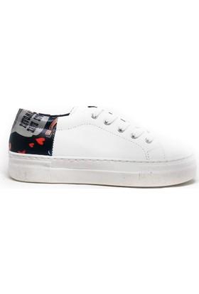 Shop And Shoes 166-222 Kadın Ayakkabı Beyaz Siyah