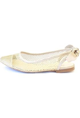 Shop And Shoes 166-600 Kadın Ayakkabı Altın