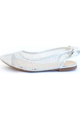 Shop And Shoes 166-600 Kadın Ayakkabı Gümüş