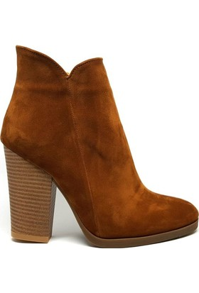 Shop And Shoes 171-404 Kadın Bot Taba Süet