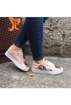 Shop And Shoes 172-10 Kadın Ayakkabı Pudra