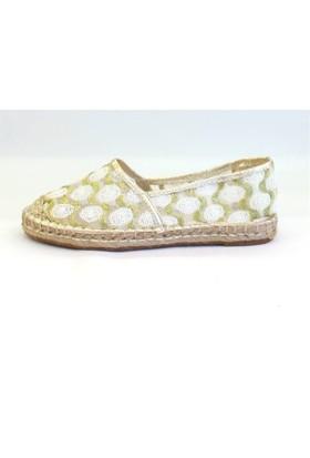 Shop And Shoes 172-1246 Kadın Ayakkabı Beyaz Dantel