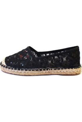 Shop And Shoes 172-1246 Kadın Ayakkabı Siyah Dantel
