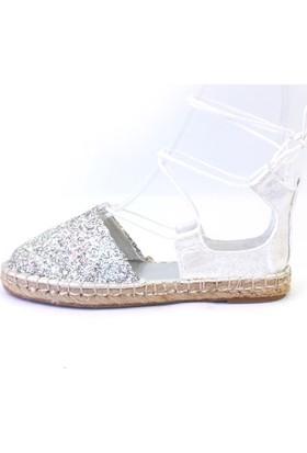 Shop And Shoes 172-1403 Kadın Ayakkabı Gümüş Camkırığı