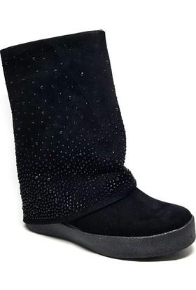 Shop And Shoes 172-1702 Kadın Bot Siyah Süet