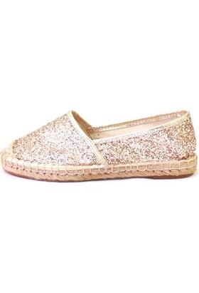 Shop And Shoes 172-2403 Kadın Ayakkabı Altın Camkırığı