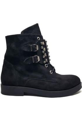 Shop And Shoes 172-3115 Kadın Bot Siyah Süet