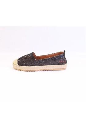 Shop And Shoes 172-6120 Kadın Ayakkabı Siyah Pullu
