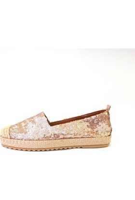 Shop And Shoes 172-6120 Kadın Ayakkabı Bakır Pullu