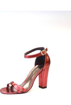 Shop And Shoes 173-021530-1 Kadın Ayakkabı Kırmızı Ayna