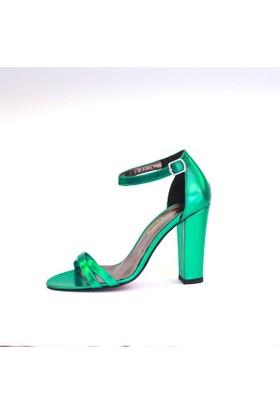 Shop And Shoes 173-021530-1 Kadın Ayakkabı Petrol Ayna