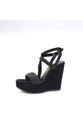 Shop And Shoes 173-17107 Kadın Ayakkabı Siyah Süet