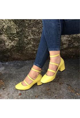 Shop And Shoes 173-8510103 Kadın Ayakkabı Sarı