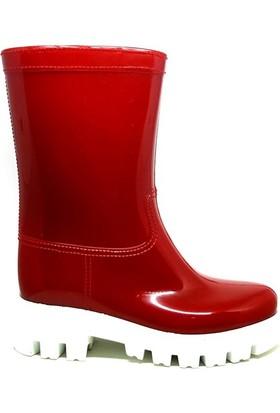 Shop And Shoes 175-504 Kadın Çizme Kırmızı Beyaz