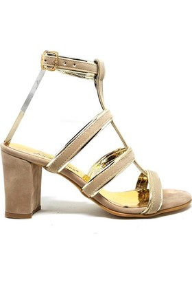 Shop And Shoes 186-709 Kadın Ayakkabı Bej Süet