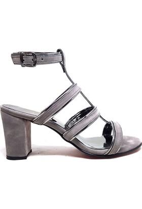 Shop And Shoes 186-709 Kadın Ayakkabı Gri Süet