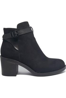 Shop And Shoes 190-403 Kadın Bot Siyah Siyah Süet