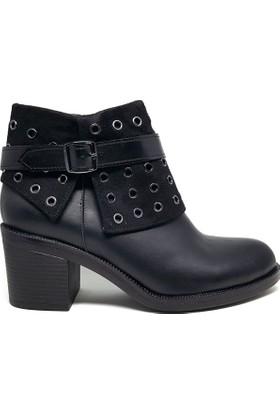 Shop And Shoes 190-407 Kadın Bot Siyah