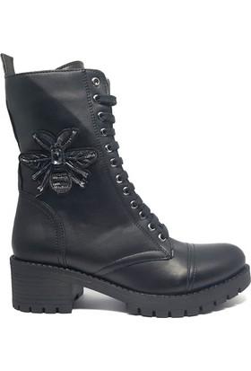 Shop And Shoes 190-409 Kadın Bot Siyah